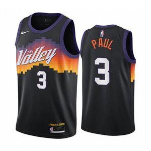 🚢🚢Phoenix Suns #3 Chris Paul Black Basketball Jersey